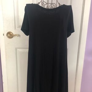 Black shift T-shirt dress size small